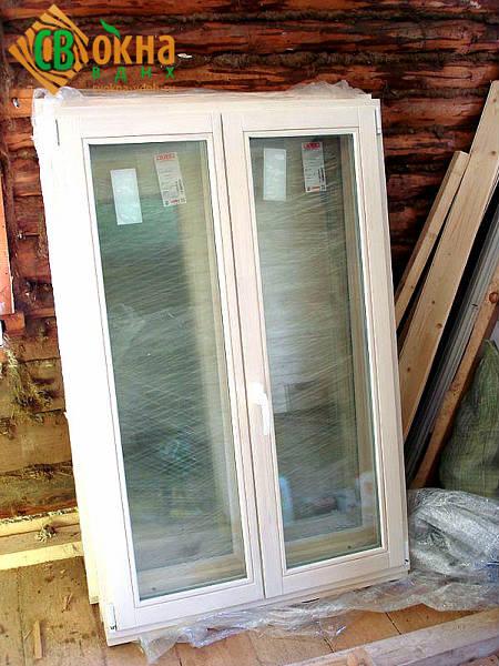 Фото Деревянное окно ОСП со стеклопакетом ЭКОНОМ