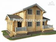 Проект дом из лафета с баней