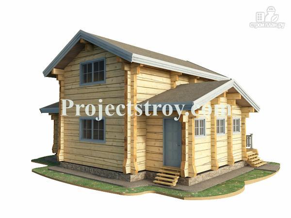 Фото 2: проект дом из лафета с баней