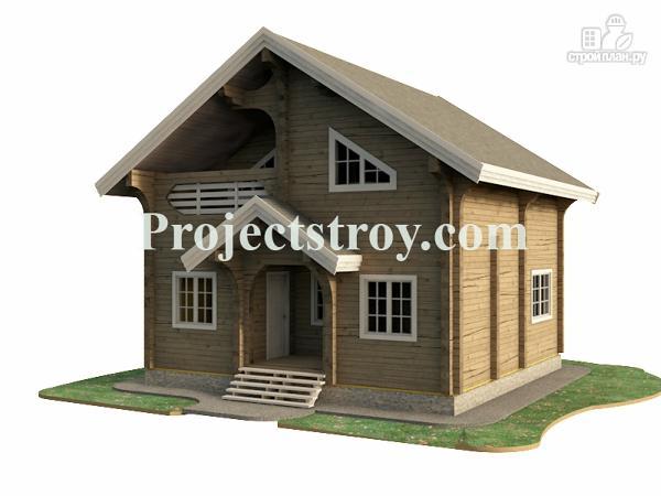 Фото 2: проект деревянный дом из бруса