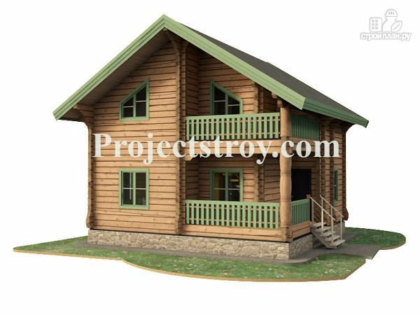 Фото: проект дом из лафета 8 на 7.5 м