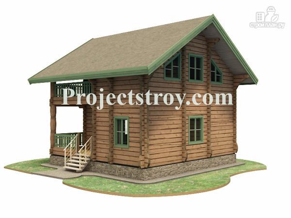 Фото 4: проект дом из лафета 8 на 7.5 м
