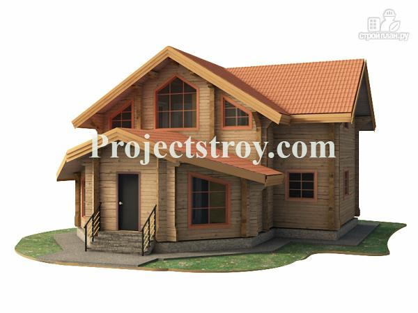 Фото: проект дачный дом из бруса 10х10 м