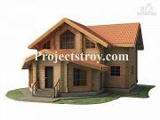 Проект дачный дом из бруса 10х10 м