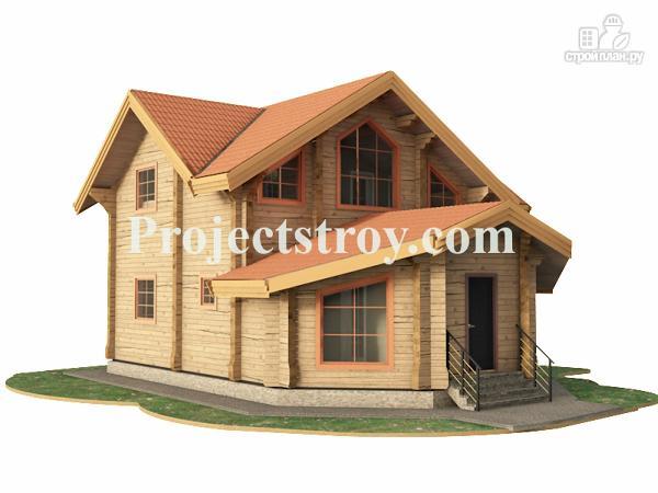 Фото 2: проект дачный дом из бруса 10х10 м