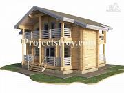 Проект дом из клееного бруса