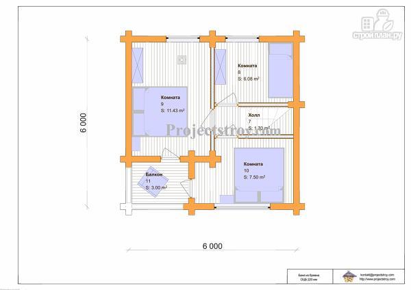 Фото 4: проект дом-баня двухэтажная 6 на 6 метров