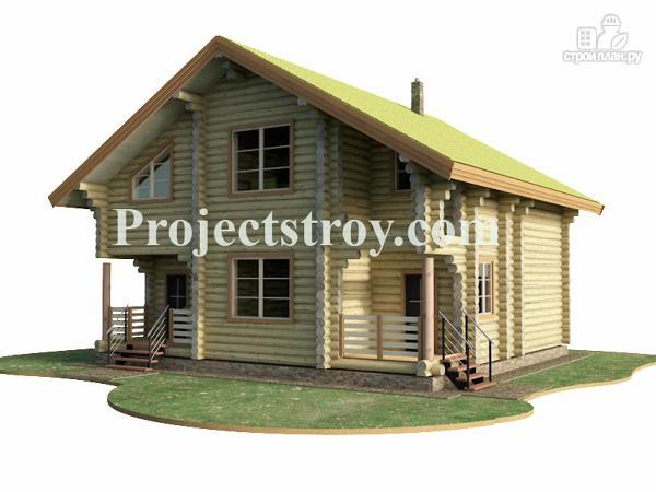 Фото 4: проект бревенчатый дом из оцилиндрованного бревна