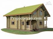 Фото: бревенчатый дом из оцилиндрованного бревна