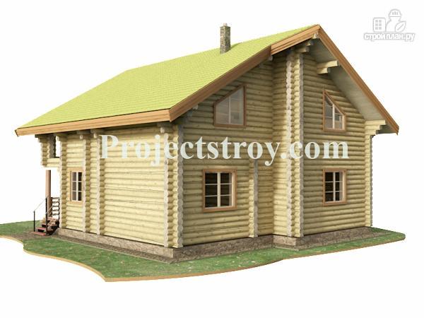 Фото 5: проект бревенчатый дом из оцилиндрованного бревна