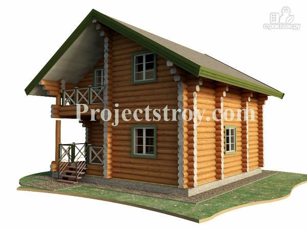 Фото 2: проект деревянный дом из бревна 8х8 м