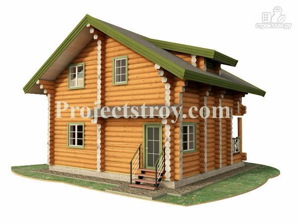 Фото 3: проект деревянный дом из бревна 8х8 м