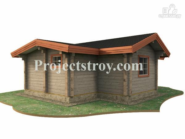 Фото 3: проект одноэтажный дом из бруса 10.5 на 8.5 м