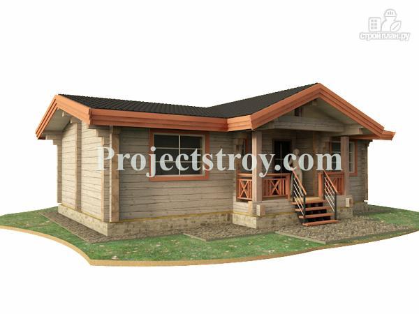 Фото: проект одноэтажный дом из бруса 10.5 на 8.5 м