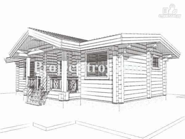 Фото 4: проект одноэтажный дом из бруса 10.5 на 8.5 м