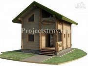 Проект дом-баня из бруса 150 мм