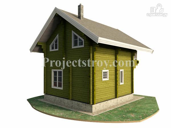 Фото 2: проект дом-баня из бруса 150 мм, размер 6 на 6 м