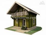 Проект дом-баня из бруса 150 мм, размер 6 на 6 м