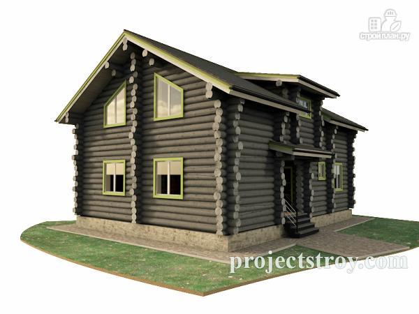 Фото: проект дом из сухостойной сосны
