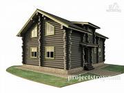 Проект дом из сухостойной сосны