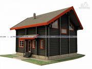 Проект дом из лафета 8 х 9 м
