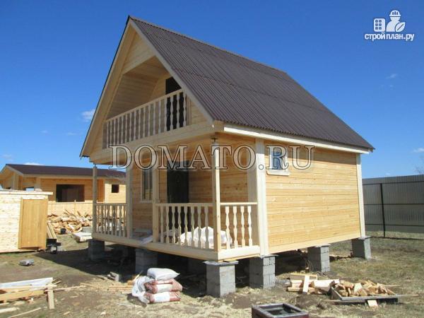Фото 3: проект дом из бруса 6 на 6 с мансардой