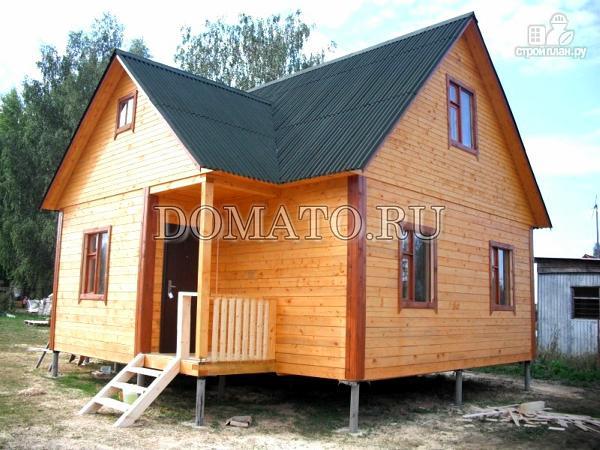 Фото 2: проект каркасный дом с мансардой