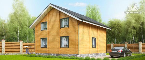 Фото 2: проект дом 9x9 метров с пятью спальнями