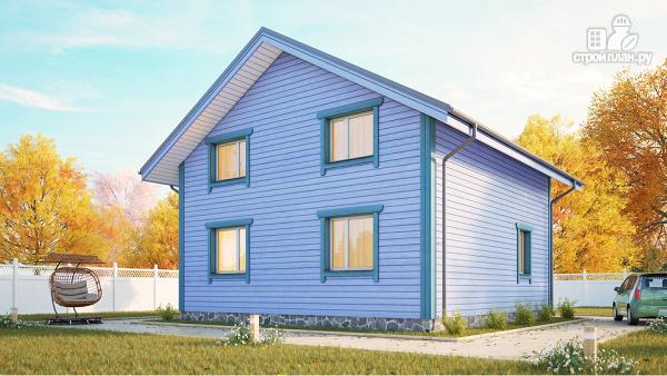 Фото 2: проект дом из клееного бруса