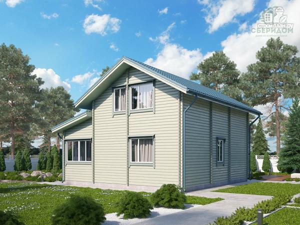 Фото 4: проект дом из клееного бруса с верандой