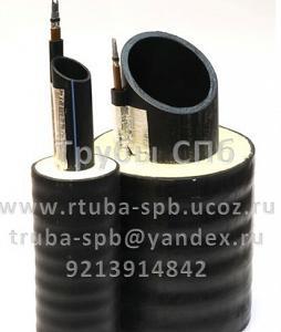 Трубы ПЭ100 в ППУ-П изоляции с греющим кабелем