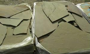 Камень природный пластушка песчаник серо-зеленый натуральный