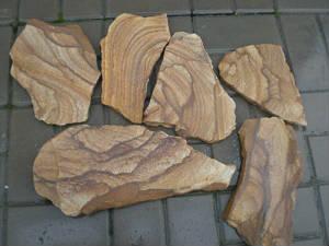 Натуральный камень пластушка песчаник Тигровый