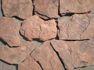 Камень природный Красный Дракон песчаник обожженный