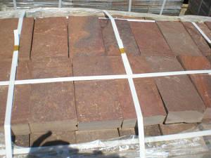 Пиленый камень красный (плитка) натуральный природный