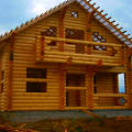 Фото 1: Дом-баня из оцилиндрованного бревна