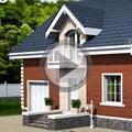 Видео Проекты домов с мансардой и гаражом RuPlans. Топ-20