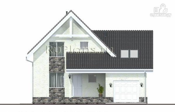 Фото 5: проект дом с мансардой, гаражом и лоджией