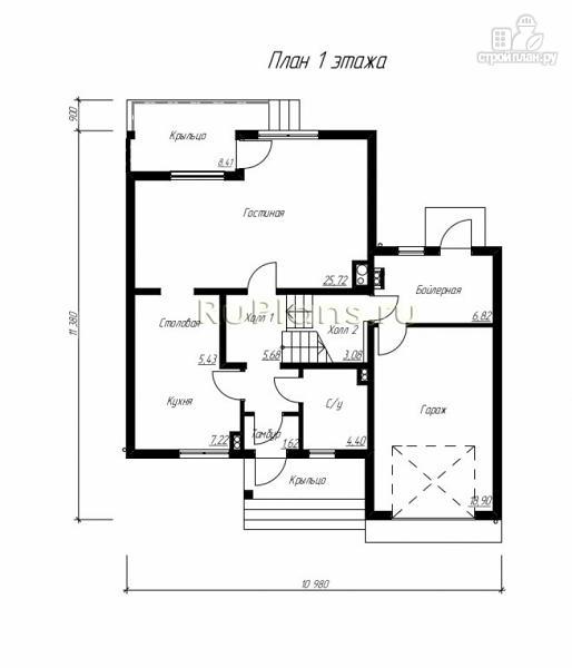 Фото 9: проект дом с мансардой, гаражом и лоджией