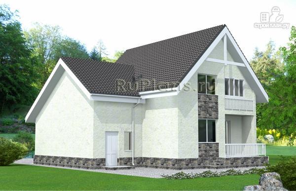 Фото 3: проект дом с мансардой, гаражом и лоджией