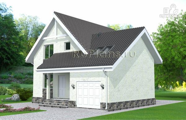 Фото 2: проект дом с мансардой, гаражом и лоджией
