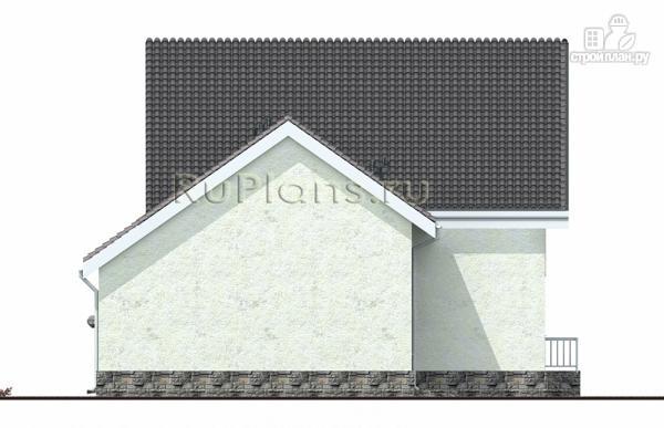 Фото 6: проект дом с мансардой, гаражом и лоджией