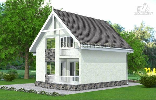 Фото 4: проект дом с мансардой, гаражом и лоджией