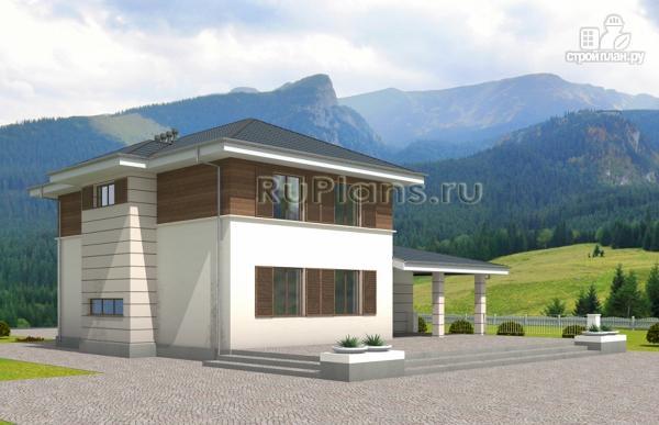Фото 4: проект современный двухэтажный дом с гаражом