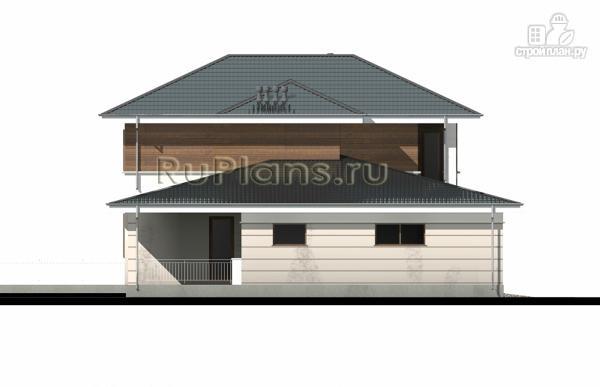 Фото 8: проект современный двухэтажный дом с гаражом