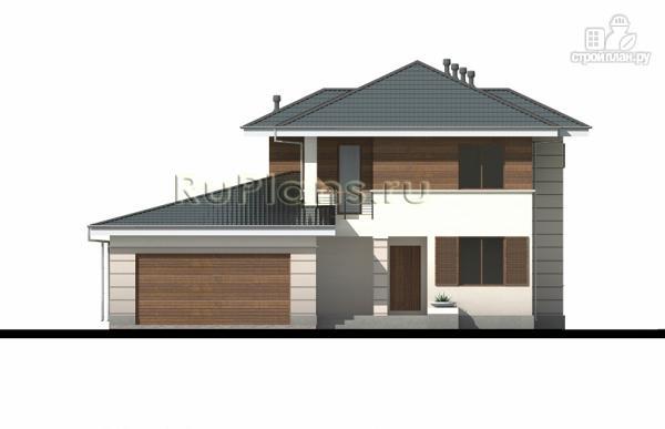 Фото 5: проект современный двухэтажный дом с гаражом