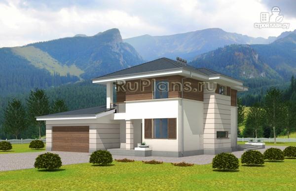 Фото: проект современный двухэтажный дом с гаражом