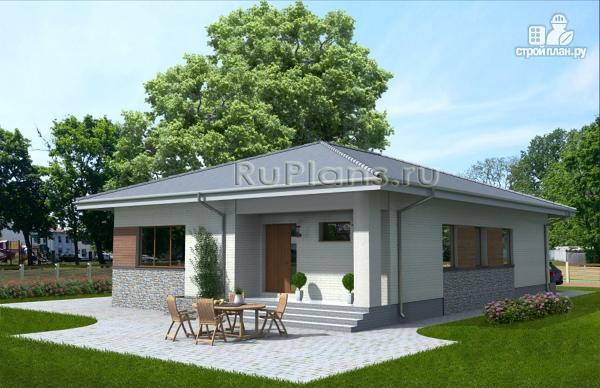 Фото 3: проект просторный одноэтажный дом