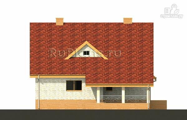 Фото 8: проект дом с мансардой, гаражом и большой террасой
