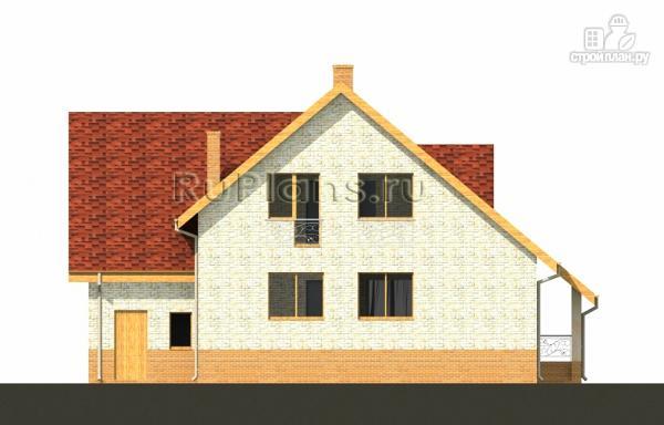 Фото 7: проект дом с мансардой, гаражом и большой террасой
